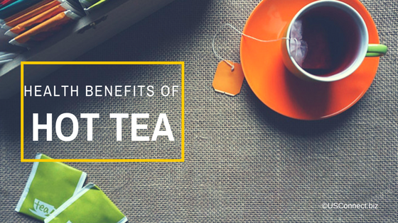 What are the health benefits of hot tea?
