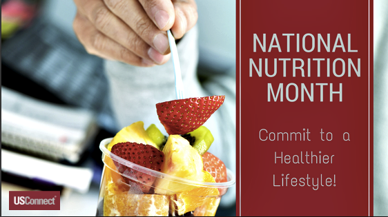 Use National Nutrition Month to commit to a healthier lifestyle!