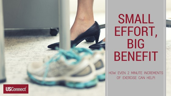 HOW EXERCISE IN 2 MINUTE INCREMENTS CAN HELP!